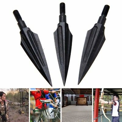 3pcs 150 Grain Steel Broadheads Arrow Heads Tips Archery Hunting for Recurve Bow