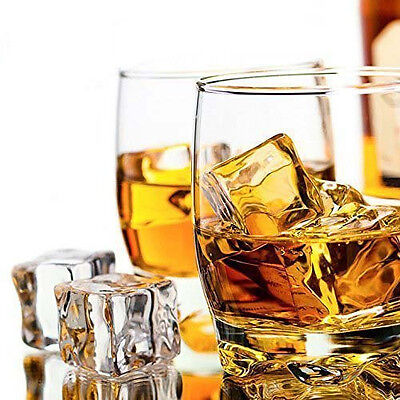 10pcs Giant Fake Artificial Acrylic Ice Cubes Crystal Clear Square Party Supply