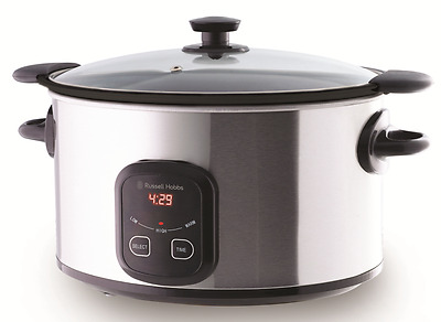 NEW Russell Hobbs 6L Family Searing Slow Cooker with 3 heat settings