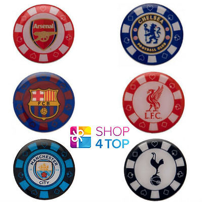 Poker Chip Pin Badge Enamel Official Football Soccer Club Team Official New