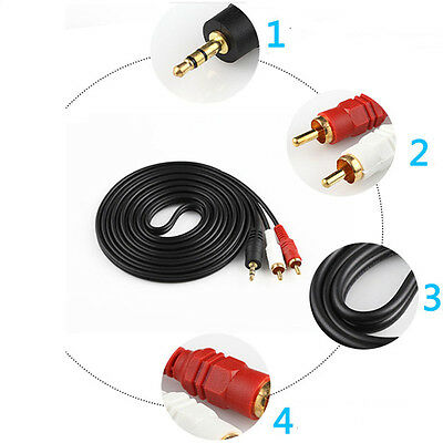 20m 66FT 3.5mm Male Plug to Dual 2RCA Jack Cable Stereo PC Audio Splitter Aux
