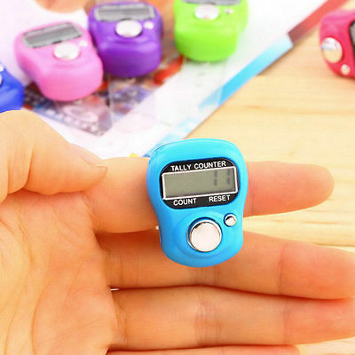 Stitch Marker Row Counter LCD Electronic Finger Hand Ring Digit Tally Counter PP