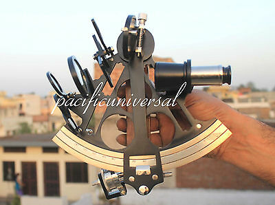 Marine Navy Ship Astrolabe Black Brass Sextant Maritime Nautical Vintage Gift D.