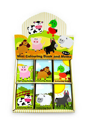 Mini Farm Friends Memo Notepads-Box of 48. Great Low Cost Party Bag Fillers!