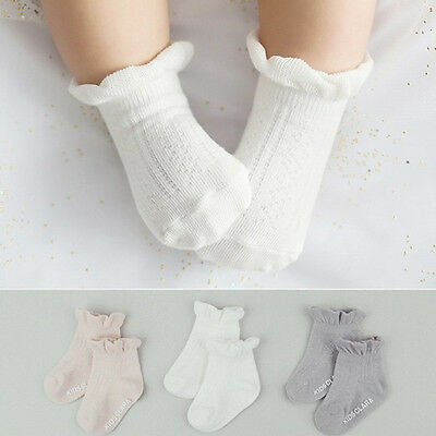 New Baby Girls Fashion Warm Calcetines Pure Cotton Lace Princess Socks