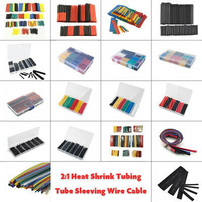 Assortment Polyolefin 2:1 Heat Shrink Tubing Tube Sleeving Wrap Wire Kit