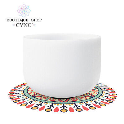 """Chakra tuned set of 7pcs 6""""-12"""" rainbow color Frosted Crystal Singing Bowl"""