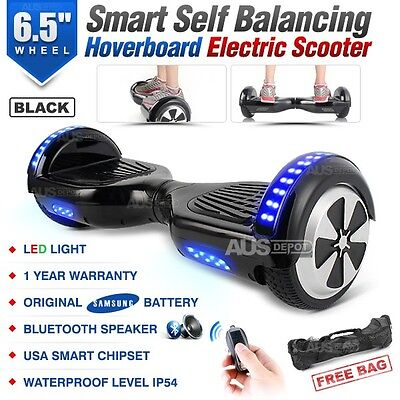 "6.5"" Two Wheel Black Bluetooth Smart Self Balancing Electric Scooter Hoverboard"