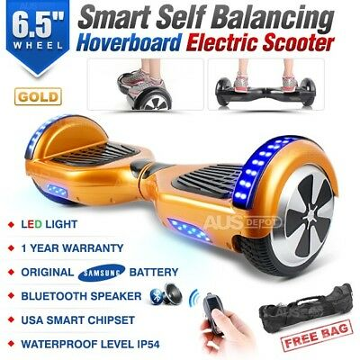 "6.5"" Two Wheel Gold Bluetooth Smart Self Balancing Electric Scooter Hoverboard"