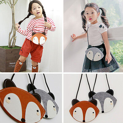Toddler Casual Shoulder Bag Children Fox Cartoon Kids Girls Messenger Handbag