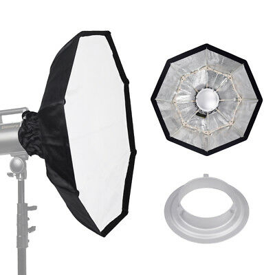 "70cm / 27"" SILVER Collapsible Beauty Dish Octagon Softbox Bowens Mount for Flash"
