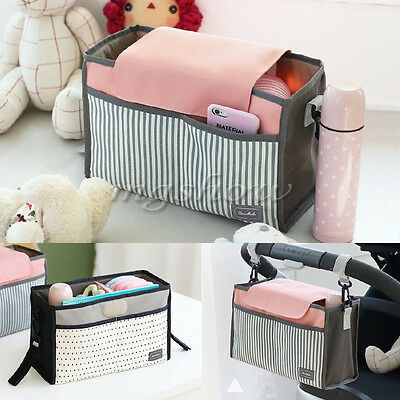Baby Diaper Bag Portable Stroller Pram Nappy Changing Organizer Insert Storage