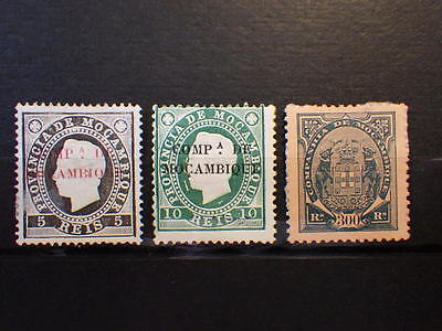 3x Timbres Stamps MOCAMBIQUE COMPAGNIE DE MOZAMBIQUE Unused 1892-1894  see pict.