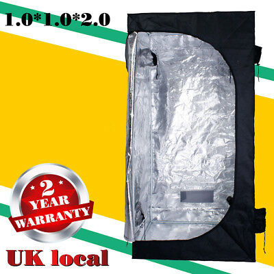 2x2x2m Indoor Grow Tent Mylar Hydroponic Bud Dark Green Room for 4x 400w lights