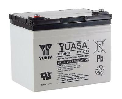 Yuasa REC36-12I Golf Trolley / Mobility Scooter Battery VRLA 12V 36Ah