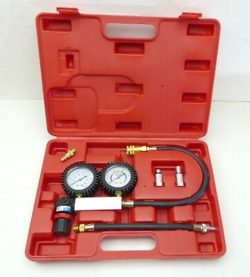 Cylinder Leakage Tester Dual Gauge Univesal Test Rings Valves Cracks & Gasket