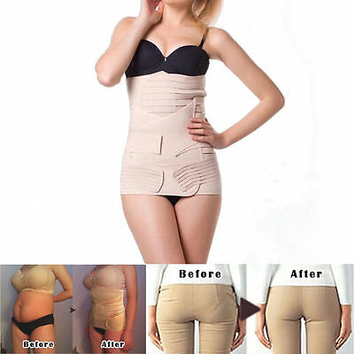 Post partum Support Recovery Belly Waist Pelvis Belt Maternity Slim Band khaki