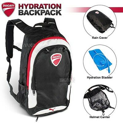10L DUCATI Hydration Water Bag Pack Cycling Travelling Outdoor Bladder Backpack