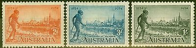 Australia 1934 set of 3 SG147a-149a P.11.5 Mtd Mint