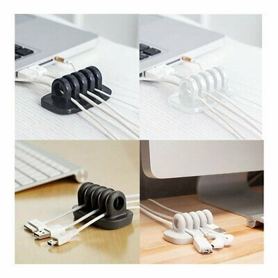 Smart Adhesive Wire Cord Cable Drop Clips Ties Organizer Holder Line Fixer