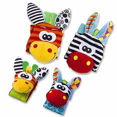 Baby Rattle Set Baby Sensory Toys Foot finder Socks & Wrist Rattles Bracelet