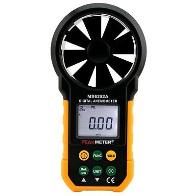 PEAKMETER MS6252A Digital Anemometer Handheld Wind Speed Meter Gauge Air Volume
