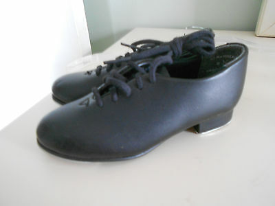 Capezio Tapster 442C Lace Up Tap Shoes Black Oxford Toddler Size 8.5M EUC