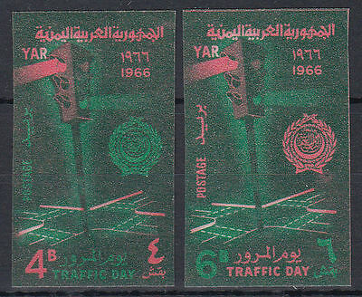 Yemen 1966 ** Mi.512/13 B Tag des Verkehrs traffic day Ampel traffic light