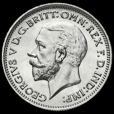 1936 George V Silver Sixpence, UNC