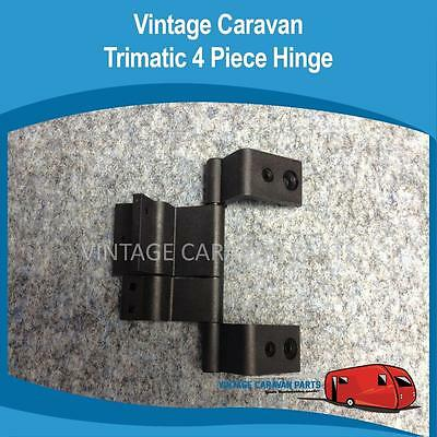 Caravan DOOR HINGE 4 PIECE Trimatic ( BLACK ) Vintage Viscount  Franklin D0121