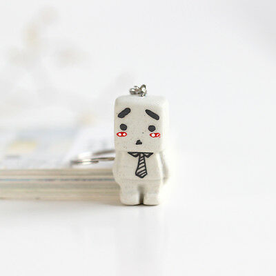box key buckle] inspirational cartoon cute Ceramic handmade fashion bag Pendant