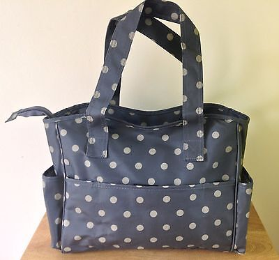 CRAFT BAG VINYL Storage for crafts sewing knitting POLKA DOT DESIGN 3 COLOURS