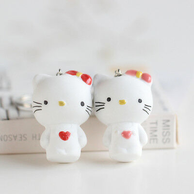 [Hello Kitty key button] cartoon girl handmade ceramic ornaments package Pendant