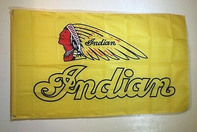 Indian Motorcycles 3x5 Flag Wall Decor Banner Garage Cheiftain Roadster Classic