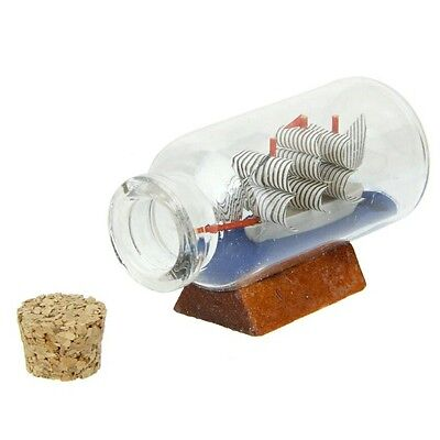 Dollhouse miniature ship in a bottle 1:12 scale