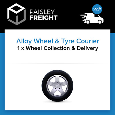 1 x Single Alloy Wheel & Tyre Courier - Collection & Delivery Service