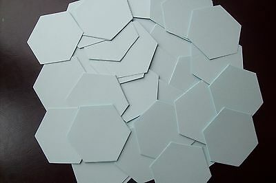 100 x DIE CUT HEXAGON PATCHWORK 90gsm PAPER TEMPLATES - ALL SIZES - FOR EPP