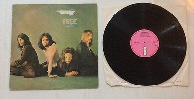 FREE-FIRE AND WATER-UK 1ST PRESS PINK ISLAND Vinyl LP A1 B1 MATRIX