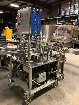 AUTOMATIC CUP FILLER, SEALER, LID CAPPER *(See Video)*