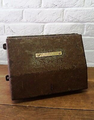 1 English Vintage Strong Mountable Metal Storage Box Benham & Sons Tools/Tractor