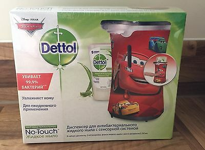 DETTOL NO TOUCH HAND WASH SYSTEM - DISNEY CARS DESIGN - WITH 250ml REFILL