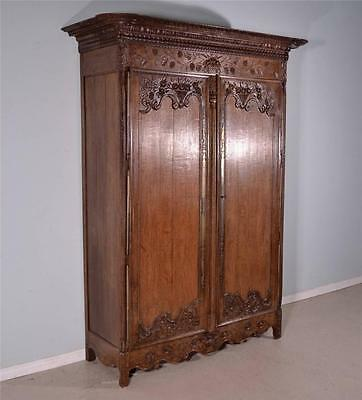 1700's French Antique Louis XVI Period Armoire from Normandy Bookcase Wardrobe
