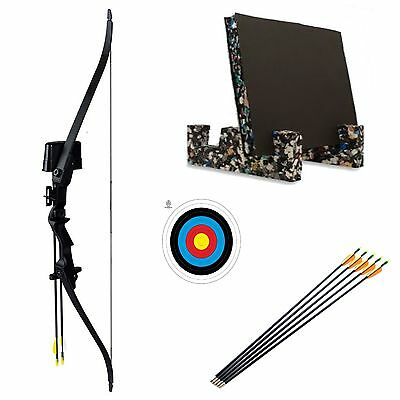 Children's Kids Junior Beginners 20lb Garden Archery Set Bow Arrows Target