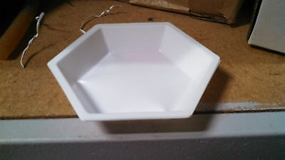 """Dyn-A-Med 80054 ~ Plastic Polystyrene Hexagon Weighing Dishes - 4 x 3"""", 500/PK"""
