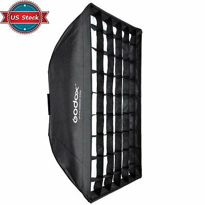 US Godox 60*90cm Grid Honeycomb Softbox Bowens Mount for Studio Strobe Flash