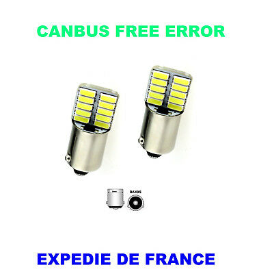2 Ampoules Led Citroen C4 Grand Picasso Bax9S H6W 24 Smd Blanc Canbus 12V