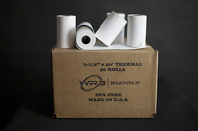 "2 1/4"" x 50' Thermal Paper (50 Rolls) for Ingenico iCT220"