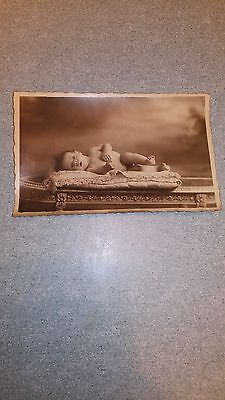 "Ancienne carte postale  photo "" bébé couché"""
