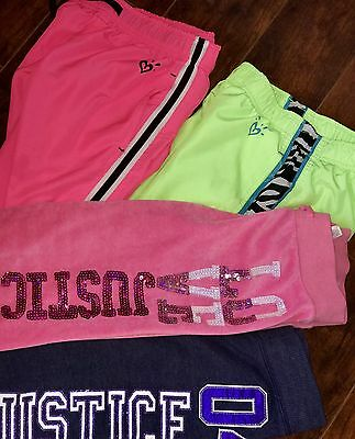GIRLS Justice Lot Athletic Pants Size 8 Pink 2 Gym Sweats
