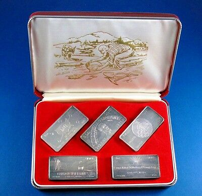 Great US Mines Silver Proof set 1970 by WH Foster Walla Walla Wash 5-3oz bars